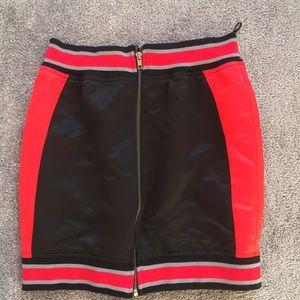 BRAND NEW LF red/black mini skirt